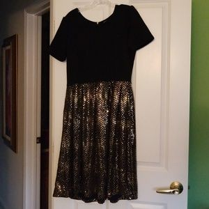 LuLaRoe Dresses - Lularoe Elegant Amelia XL